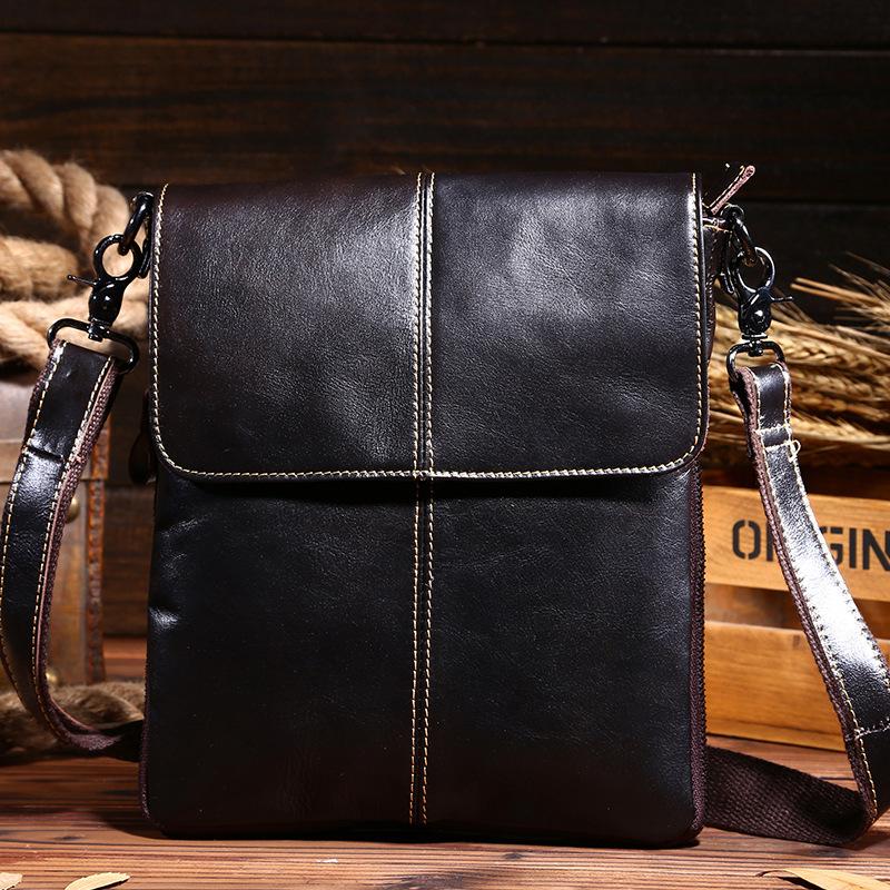 Geniune Leather Bag Men Messenger Bags Men's Crossbody Small Satchel Man Satchels bolsos Men's Travel Shoulder Bags sacoche homm(China (Mainland))