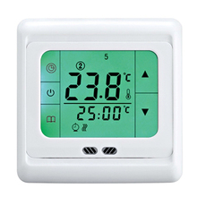 Underfloor Heating Thermostat Weekly Programmable Touch Screen Room Temperature Controller Thermostat Green Backlight(China (Mainland))