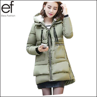 High Quality 2015 New Winter Thicken Parkas Women Long Military Down Cotton Coats Plus Size Women Winter Jacket EF894