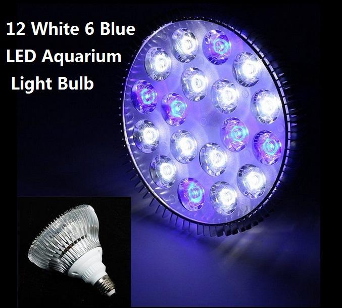 E27 54W PAR38 85-265V 12 White 6 Blue LED Aquarium Light Bulb For Coral Reefs and Aquarium Fishes(China (Mainland))