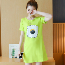 Latest fashion printing loose T-shirt cotton good quality personality printing cotton linen tops tees maternity shirts blouses(China (Mainland))