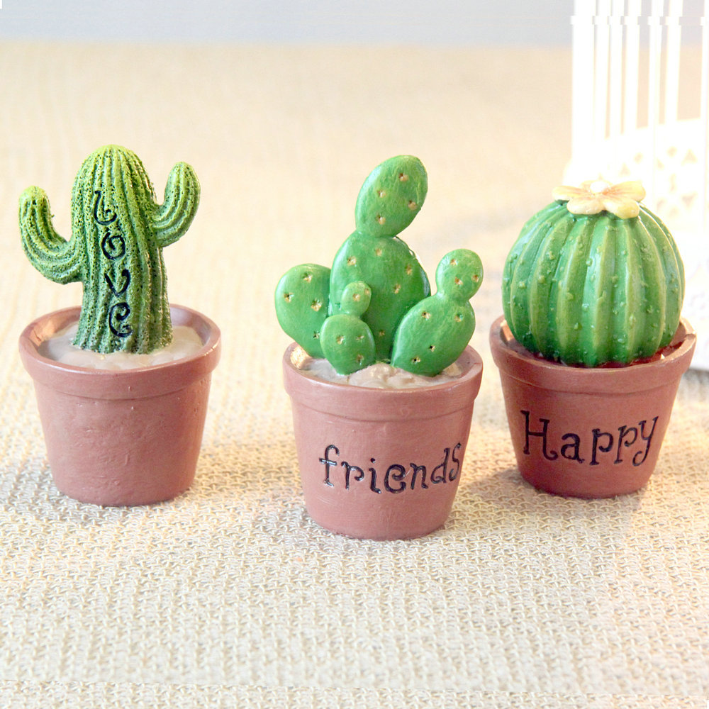 cactus small resin decoration home accessories plant office desk wedding decorations ornaments girl birthday christmas gift accessories furniture funny