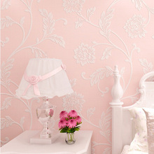 floral wallpaper for girl room wall decor papel de parede moderna for  bed and tv  background(China (Mainland))