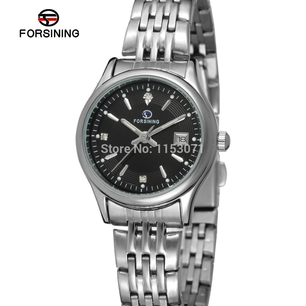 FSL8089Q4S2 Forsining fashion new quartz women watch with stainless steel bracelet original gift box free shipping high quality(China (Mainland))