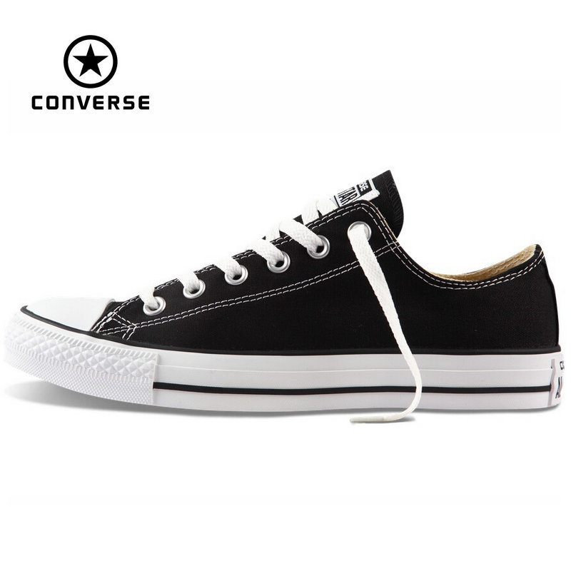 Original new Converse all star canvas shoes mens sneakers for men low classic Skateboarding Shoes black color free shipping<br><br>Aliexpress
