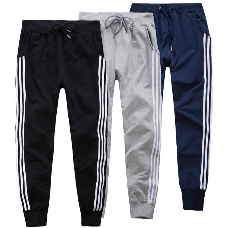 2016 New Mens Joggers Cotton Casual Harem Sweatpants Elastic Sports Pants Trousers Slim Fit Man Tracksuit Bottoms Drawstring(China (Mainland))