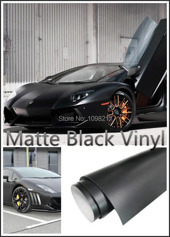 300mmX1520mm Matte Matt Black Vinyl Wrap Self Adhesive Air Release Bubble Free Sticker Decal Film(China (Mainland))