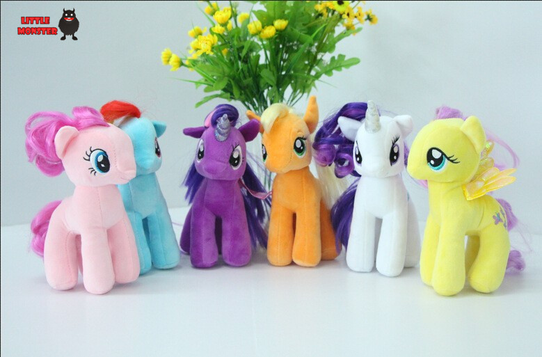 6pcs/set 19cm minecraft my cute lovely little horse Plush toys poni doll toys for Children Funko POP Toys free shipping(China (Mainland))