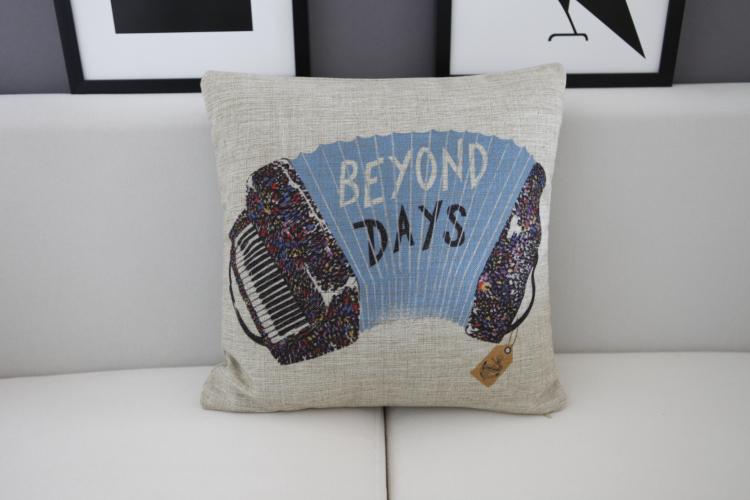 color Music bird pillow bananas Pillow cushion Linen pillowcase cushion home decor decorative Pillows