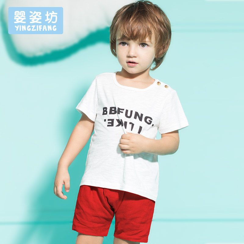 2016 New Summer Baby Boy Girl Clothing Set Pattern Letter Toddler Boys Girls Clothing Sets 2 Pieces(China (Mainland))