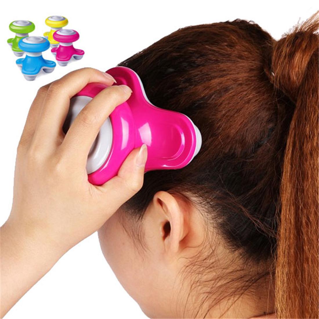 2016 Hot Mini USB Battery Full Body Massage Wave Vibrating Electric Handled Massager head massager Random Color(China (Mainland))