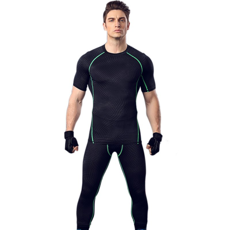 Men Compression Base Layer Tops Tight Short Sleeve T-Shirts Sport Gear Top ZZ(China (Mainland))
