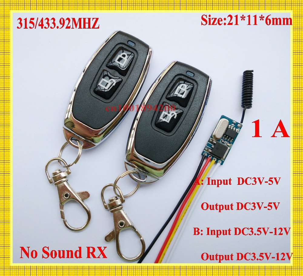 Data Transmission System Micro Remote Control Switch Video Downlink Remote Switch Anti-interference RF RX TX DC 3V3.3V3.7V5V6V9V<br><br>Aliexpress
