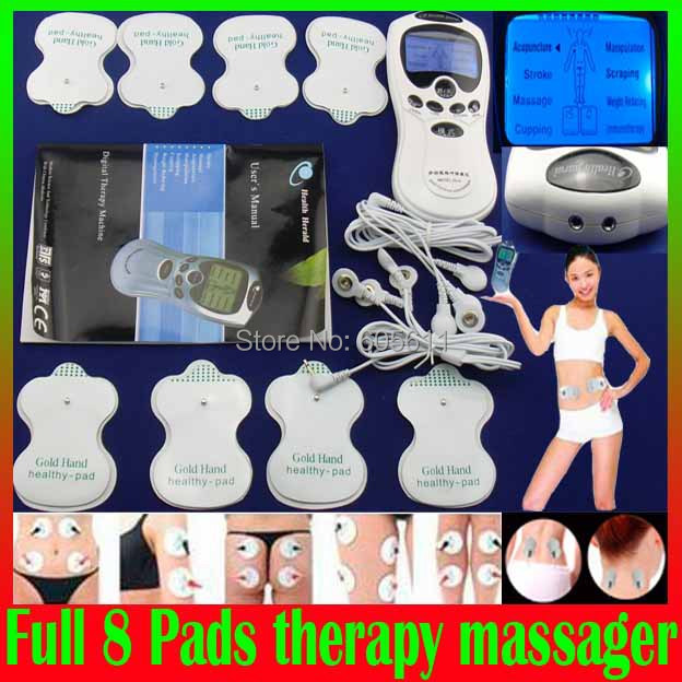 TENS Body Healthy care Digital acupuncture therapy massager machine Slimming Muscle Relax Fat Burner pain new 2*4 pads massage