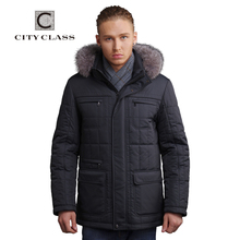 City Class Men's Winter Thinsulate Silver fox Jackets And Coats Thick Warm Fashion Casual Stand Collar Removable Hood 14342(China (Mainland))
