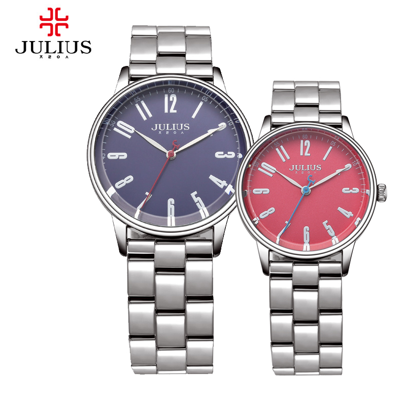New Julius Lady Man Wrist Watch Couple Lovers Gift Fashion Hours Dress Bracelet Stainless Steel Business School Boy Girl JA-859<br><br>Aliexpress