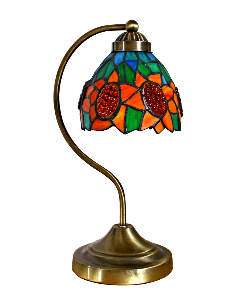 Traditional Tiffany Stained Glass Table Lamp With Sunflower Patterns Lampfair Free Shipping AC06006SU(China (Mainland))