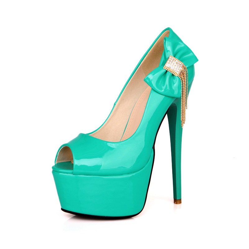 2014 hot sexy black red blue green super high heels women