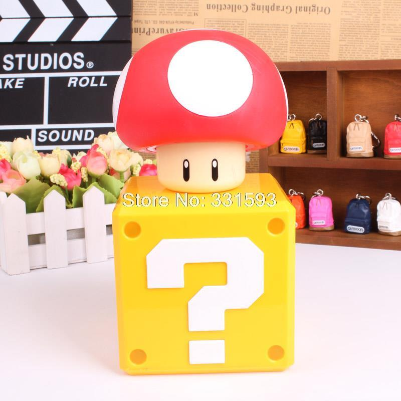 Super Mario Bros Money Box Mushroom Figure Toys Dolls Piggy Bank Deposit Coins For An Authentic Game Sound<br><br>Aliexpress