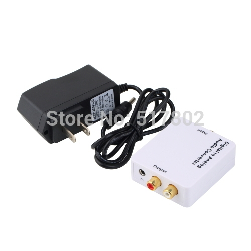 Digital SPDIF Optical Coaxial Toslink to Analog RCA L/R Audio Converter Adapter Free Shipping