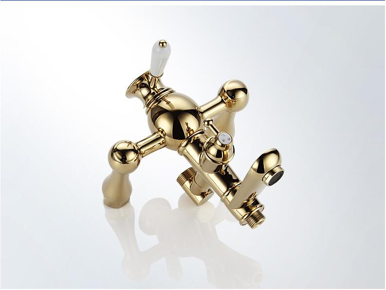 Boa qualidade de luxo latão ouro torneiras chuveiro na parede do chuveiro Mixer torneiras B-8011L
