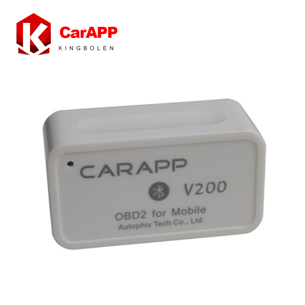 2016 new Arrival DIY OBD2 Scanner Mini Smart Car Trip Computer CARAPP V200 Work With iOS/Android Dual System Free Shipping(China (Mainland))