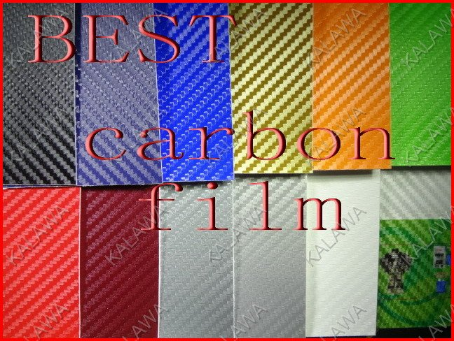 BEST SERIES  1.52*1M bubble free 3D carbon fibre film (carbon fiber vinyl car wrap)--color option car sticker