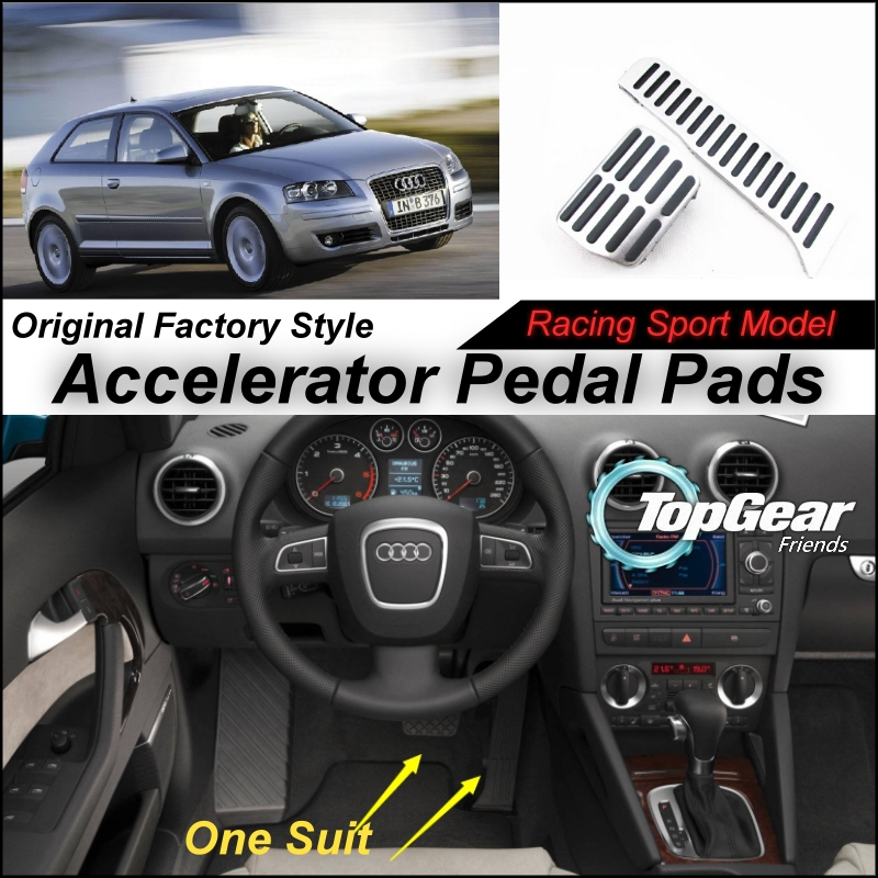 Car Accelerator Pedal Pad / Cover of Original Factory Sport Racing Model Design For Audi Audi A3 8P 2003~2012 Tuning(China (Mainland))