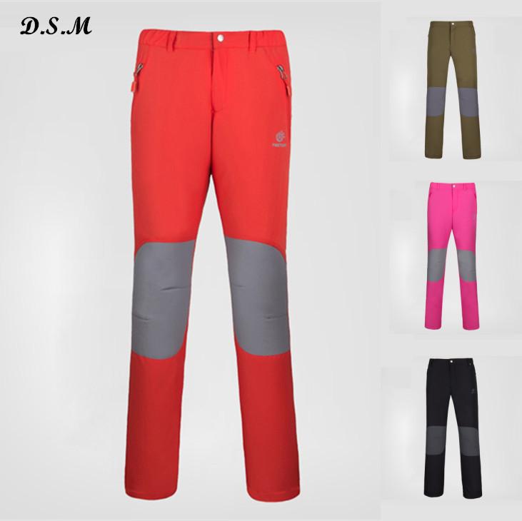 New Tectop brand men thermal softshell hiking pants women outdoor sports climbing trekking camping fishing pesca escalada pants