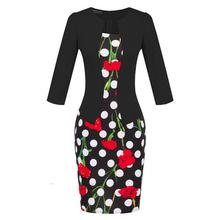 Elegant Women Tartan Formal Woman dress Girl Bodycon Dress Pencil Dress Female Office Sashes Woman Work Clothes Flower S122