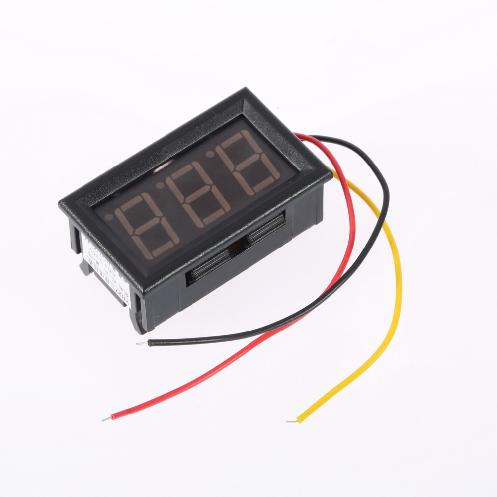 1pcs Mini Digital Voltmeter 4 5 30v 3 Wires Vehicles Motor