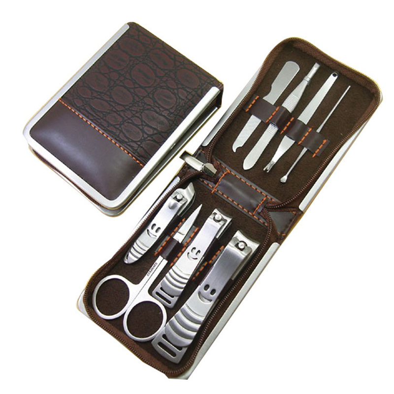 Portable Stainless steel Nail Art Manicure Set Nail Care Tools in Case with Zipper M02283(China (Mainland))