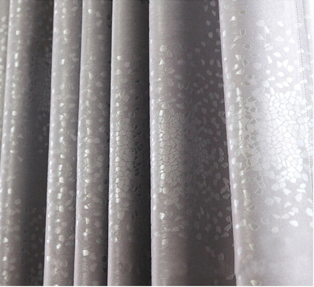 High quality full black out decorative window curtains light shading drape jacquard for bedroom finished size grommet treat(China (Mainland))