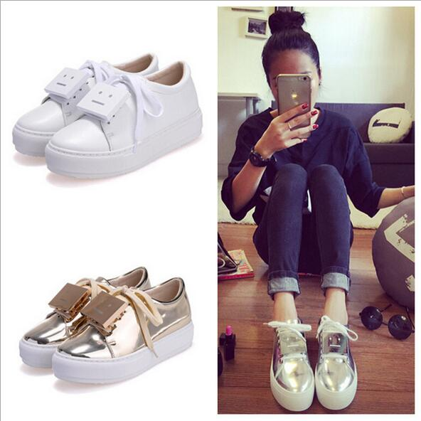 2016 new Acne Studios small leather flats casual shoes high quality flat shoes size 34-42 shoes women free shipping(China (Mainland))