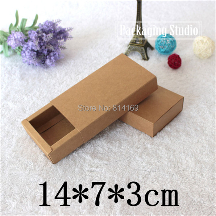 Kraft Drawer Boxes Handmade Soap Box Gift Tea Jewel Bow Tie Packaging Paper Boxes Free Shipping(China (Mainland))