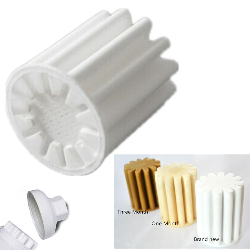 hot 2pcs kitchen bathroom shower bath head water softener replacement filter element filter. Black Bedroom Furniture Sets. Home Design Ideas