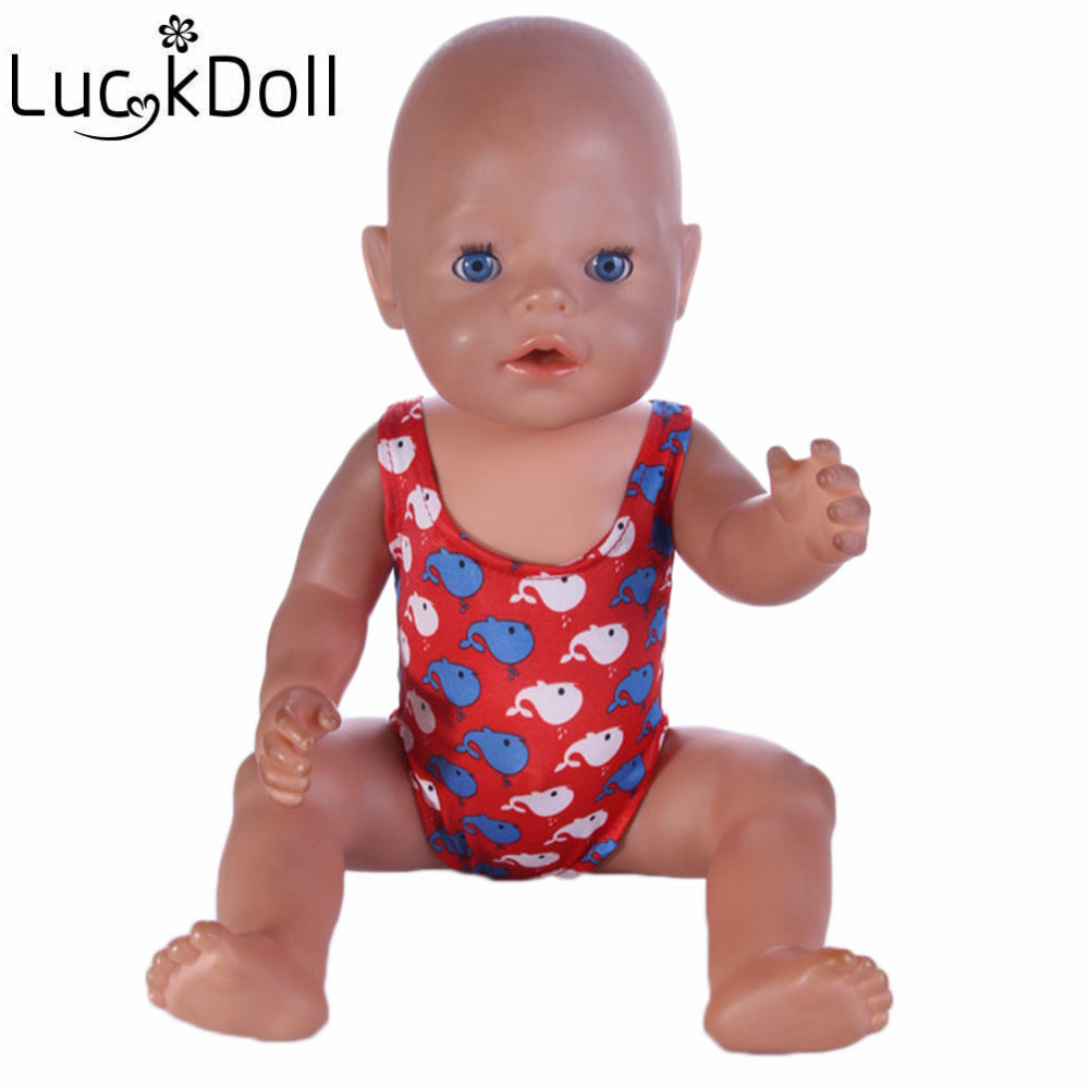 luck doll Free Shipping Doll accessories doll Swimsuit fit for Americal Girls 43cm doll Baby Born zapf,girls playhouse toys b487(China (Mainland))