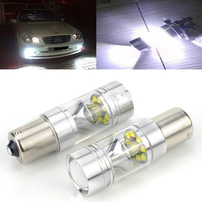 2Pcs Super Bright 100W 1156 BA15S P21W No Error Car Styling LED Backup Reverse Tail Brake Stop Lamp Bulb Fog Light Turn Signal(China (Mainland))