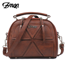 Buy ZMQN Women Messenger Bags Famous Brand 2017 Vintage Retro Women Crossbody Bag Small PU Leather Handbags Women Splicing A523 for $13.72 in AliExpress store