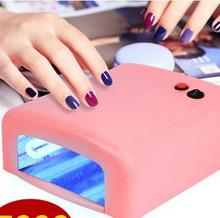 Hot sale free shipping dry gel nail curing uv lamp 36 w 4 x 9 w light pipe equipment of high quality tools(China (Mainland))