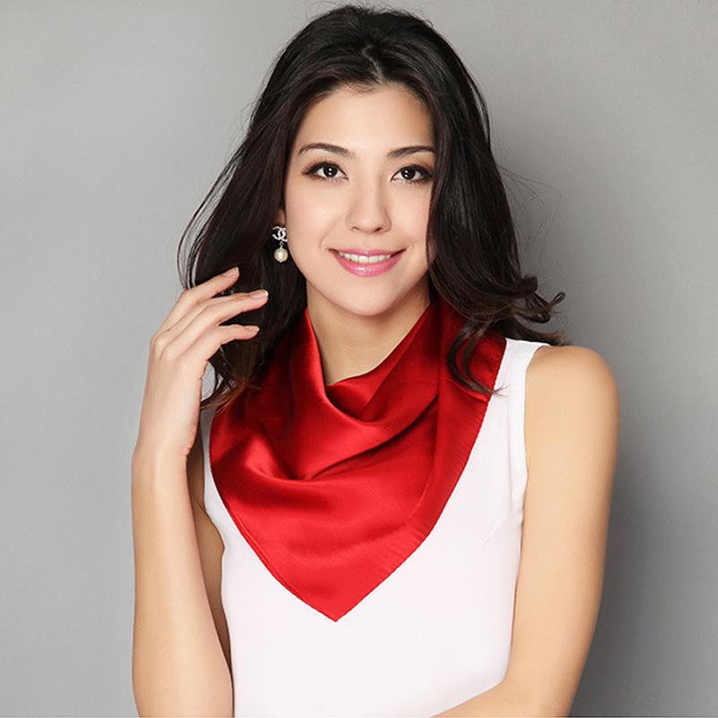 [LESIDA]New Fashion Silk Scarf Women Hijab Scarves Echarpes Foulards Femme Twilly Square Scarf Bandana Soild Schal HeadbandCS102(China (Mainland))