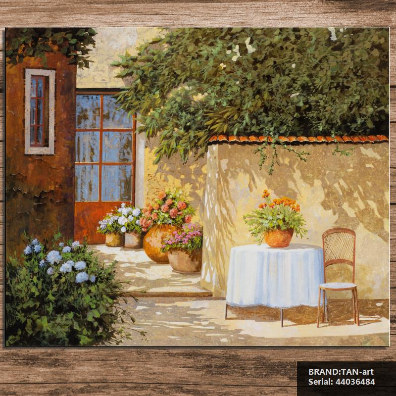Landscape Mediterranean Spray Unframed Canvas Frameless oil Painting Drawing art children islamic picture wire wire 44036484(China (Mainland))