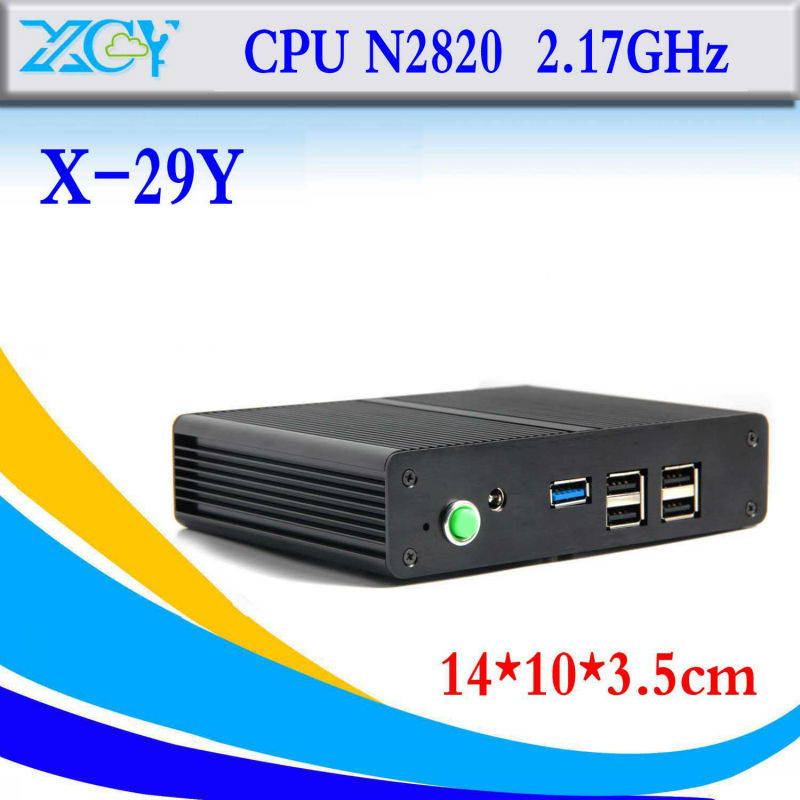 Smallest Celeron N2820 mini desktop computer barebone pc thin client terminal support bluetooth embedded audio and video(China (Mainland))