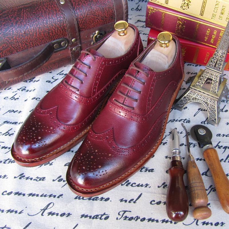 Goodyear hand-carved leather shoes all leather mens business to help low-end custom high-end custom leather shoes<br><br>Aliexpress
