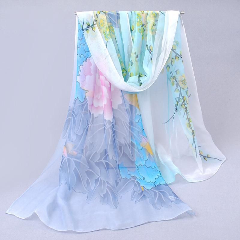 Flower Print Women 39 S Scarf 2016 New Design Long Shawl
