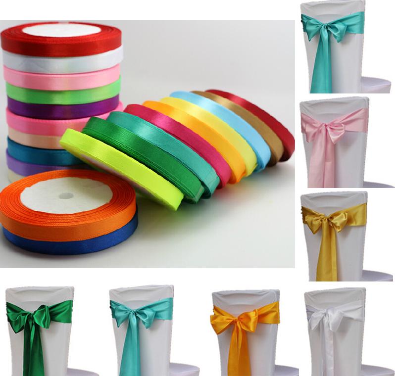 yard Polyester Satin ribbon ribbons Birthday Wedding Party Decoration ...