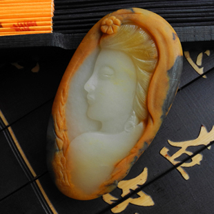 Natural longling pendant, huanglong jade pieces, beauty accessories