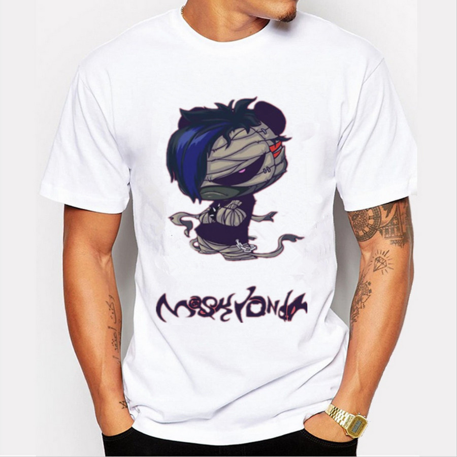 2017 Summer Fashion Mens T-Shirt Anime O-Neck T-Shirt Mens Short Sleeve Mens T-shirt Male Tops Tees Free Shipping