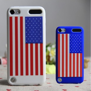Newest Country flag Silicone Soft case cover for ipod touch5,10PCS/LOT + Free Shipping(China (Mainland))