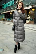 2013 soft fabric classic hot-selling lengthen thickening high quality down coat with a hood ultra long paragraph outwear